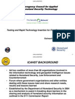 Toomer 17 May 2012 UNCLASSIFIED - Interagency Council for Applied Homeland Security Technology
