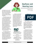 Sensory Disability Fact Sheet