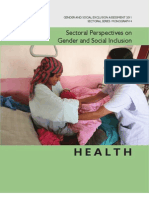 Sectoral Perspectives on Gender and Social Inclusion