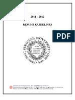 Resume Guide 2011-2012 (1)
