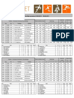 speel lijst 23-08-2013