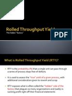 Rolled Throughput Yield (Training)
