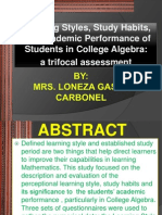 Learning Style Ppt- Loneza G. Carbonel