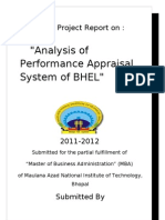 Performance Appraisal of Bhel