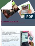 A Presentation on Wireless Communication