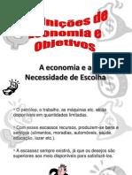 Definições de Economia e Objetivos