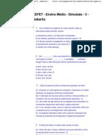 CEFET - Ensino Médio - Simulado - 3 - Gabarito - newhorizonsfoz