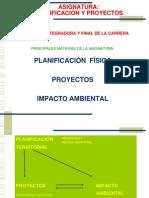 I- TERRITORIO Y PLANIFICACIÓN 2007-2008