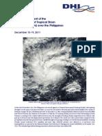 Meteorological Report of Tropical Storm Sendong Washi -Initial Assessment
