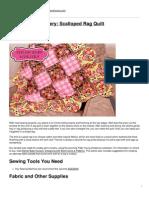 Sew4Home - Stylish Baby Nursery- Scalloped Rag Quilt - 2012-10-19