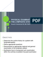 Lymph Examination 2013