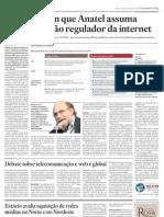 Teles querem que Anatel assuma papel de órgão regulador da internet