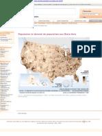 répartition et densité de population aux états unis