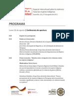 PROGRAMA - Conferencia de apertura Diálogo Regional Voces de Dignidad