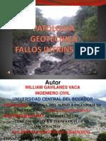 PATOLOGÍA GEOTECNICA