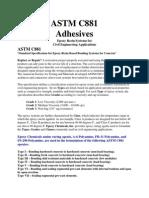 ASTM C881 Summary