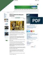 History Malaysian Monarchy