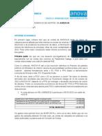 Informe Económico de Anova