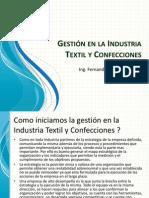 Gestión en la Industria Textil y Confecciones - UNFV 2013