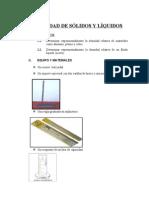 LABORATORIO IV - Densidad de Solidos y Liquidos