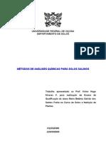 Métodos de análise química - solos salinos