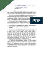d.s. 138-2012ef Modf. Reglamento Ley Contrataciones