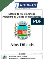 diario oficial de nova iguaçu de 23 de agosto de 2013.