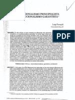 Constitucionalismo Principialista y Constitucionalismo Garantista.