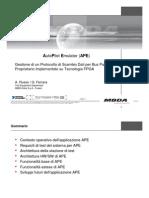 Gestione di un protocollo di scambio dati per Bus parallelo proprietario implementato su tecnologia FPGA
