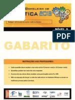 Prova Teórica Nivel 5 - 2013 - GABARITO