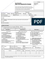 Graduate Application Form