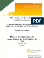 D1 - Manuel d'installation de paramétrage et d'utilisation du CMS
