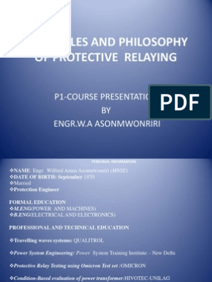 Principles and Philosophy of Protective Relaying | Relay