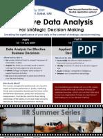 Effective Data Analysis