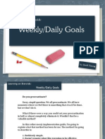 Weekly Daily Goals