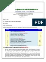 Communication Advisory for August 24-2013