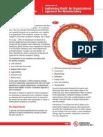 Addressing RoHS - An Organizational Approach UL