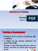 Relevance of Training