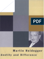 Martin Heidegger - Identity and Difference