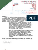 Newsletter  July 2013