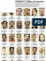 Most Wanted Property Crime Offenders August 2013