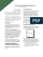 Basic Writing Policies and Procedur