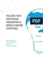 CRA Policies That Encourage Innovation in Middle-Income Countries Web