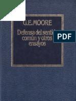 Moore. Defensa del Sentido Común y otros ensayos