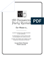 All Occasions Party Rentals Planning Guide for Parties