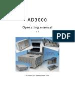 AD3000 Operator Manual