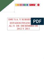 Estados Financieros 2012 y Explicaciones