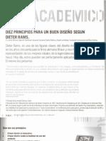 Diez principios para un buen diseño segun dieter rams