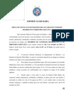Edital de convocação - Eleições do Bahia 2013