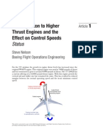 The Migration to Higher Thrust Engines and the Effect on Control Speeds